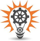 Power lamp logo — Stock Vector