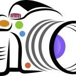 Camera logo — Stock Vector #76102003