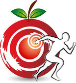 Health fruit logo — Stock Vector