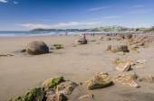 Moeraki boulders, natural wonder in New Zealand — Stock Photo