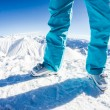 Skiers at the mountaintop — Stock Photo #63339027