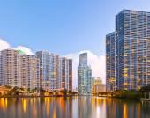 City of Miami Florida, night skyline. — Stockfoto