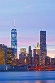 New York City, USA at sunset — Stock Photo