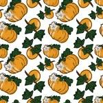 Pumpkin and persimmon — Stock Vector #57853255