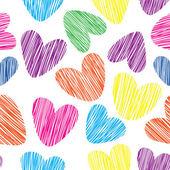 Romantische achtergrond met hart — Stockvector