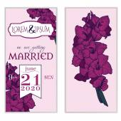 Disegno della carta invito matrimonio — Vettoriale Stock