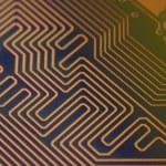 Circuit board digital highways — Stock Photo #74771255