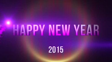 Happy New Year 2015 Footage — Stock Video