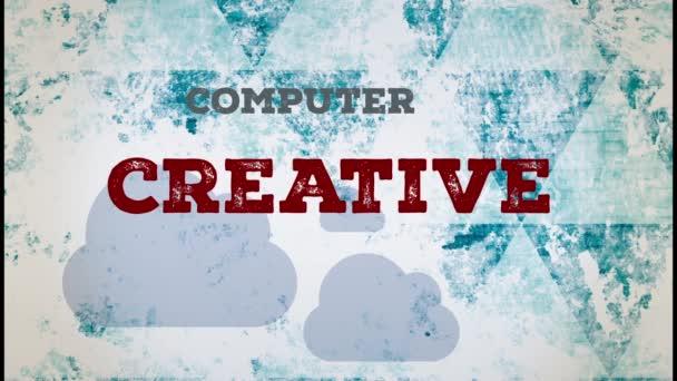 Diseño web animación de texto — Vídeo de stock