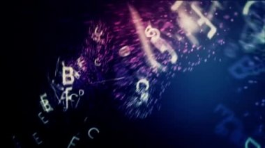 Flying Letters in Deep Space — Stock Video
