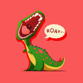 Illustration of dinosaur is roaring — Stock Vector
