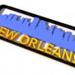 New Orleans USA logo with the base colors of the flag of the city on white 3D design — Stock Photo #53322915