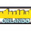 Orlando USA logo with the base colors of the flag of the city on white 3D design — Stock Photo #53322973