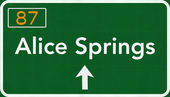 Alice Springs Australia Highway Road Sign — Stock Photo