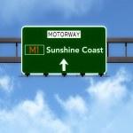 Sunshine Coast Australia Highway Road Sign — Stock Photo #67309491