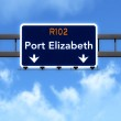 Port Elizabeth South Africa Highway Road Sign — Stock Photo #69985671