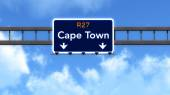 Cape Town South Africa Highway Road Sign — Стоковое фото