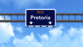 Pretoria South Africa Highway Road Sign — Stock Photo