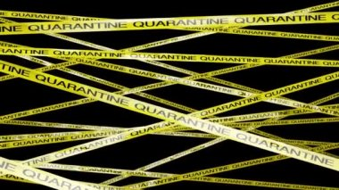 Quarantine Ribbon with Signs — Stock Video