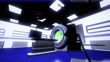 HR MRI CT Machine in Operation Room — Stock Video