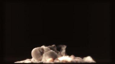 Raging fire oil burn — Стоковое видео