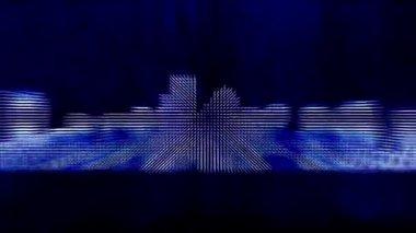 Boston city background — Стоковое видео