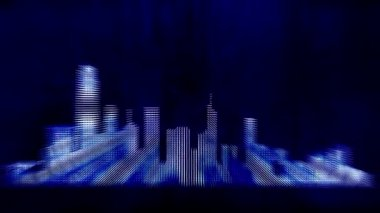 Hong Kong city background — Stock Video