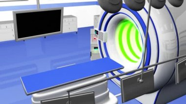 HR MRI CT Machine in Operation Room — Vídeo de Stock