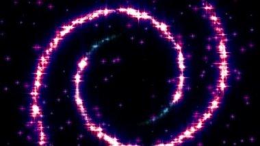 Glisten Glamour Spirals — Stock Video