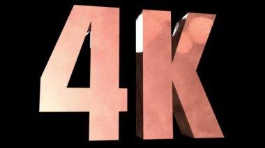 4K Symbol — Stock Video