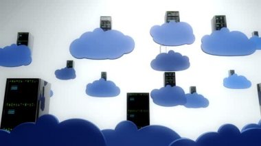 Cloud Servers Computing Creative Concept — Stock Video