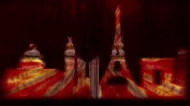 Paris city background — Stock Video