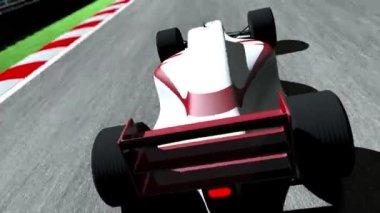 Race Car on Race Course — Stock Video