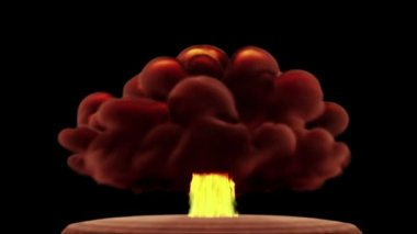 Huge nuclear or hydrogen explosion — Stock Video