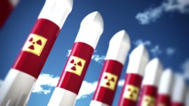 Nuclear Rockets before start — Stock Video