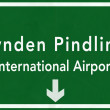 Bahamas Lynden Pindling International Airport Highway Sign 2D Il — Stock Photo #80070762