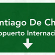 Santiago Chile International Airport Highway Sign — Stock Photo #80071640