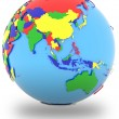 Southeast Asia on the globe — Stock Photo #72655721