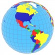 South and North America on the globe — Stock Photo #72656067