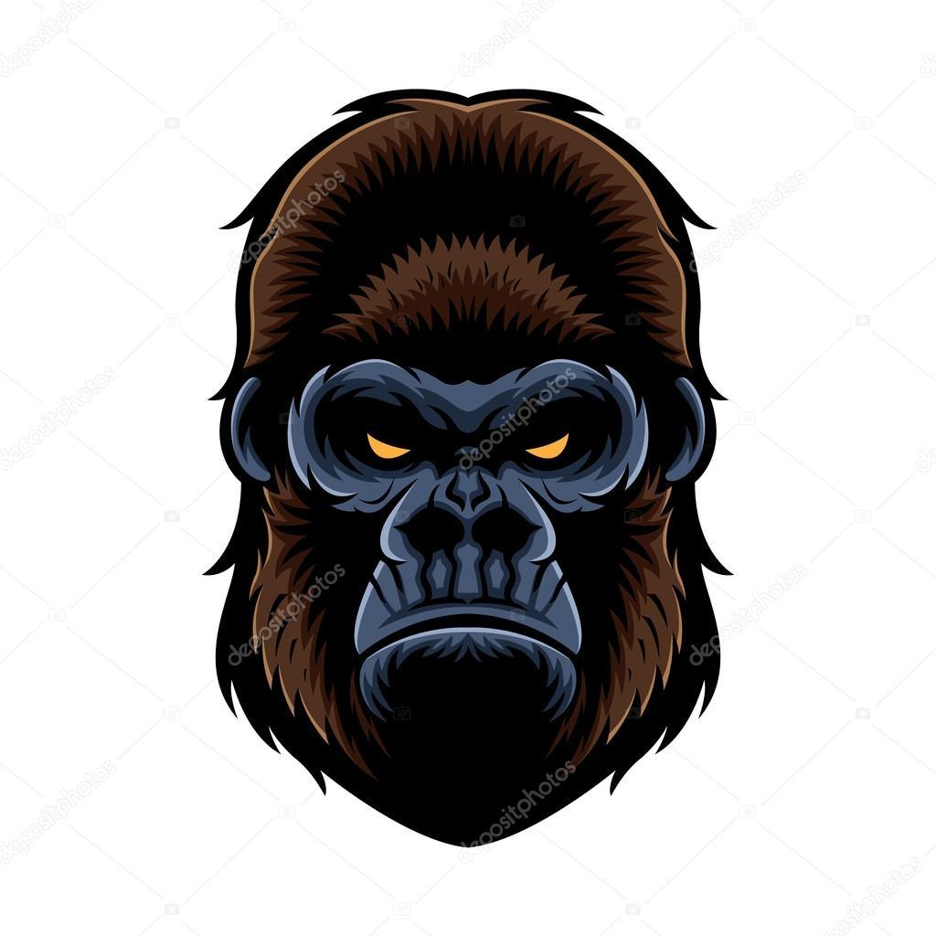 Abstract gorilla head Stock Vectors Royalty Free Abstract