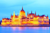 Hungary. Budapest. Night look. Parliament palace — Stock Photo