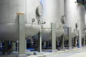 Oil and gas industrial tanks. — Stock Photo