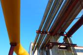Gas pipeline.Industrial business. — Stock Photo
