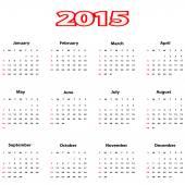 календарь 2015. — Cтоковый вектор