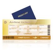 Air ticket passport — Stock Vector