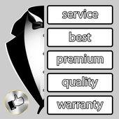 Service premium quality — Stock Vector