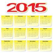 カレンダー 2015 年 — ストックベクタ