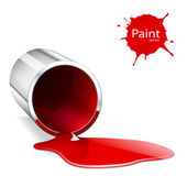Capacity with a red paint — Stock Vector