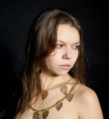Güzel genç kız closeup portresi — Stok fotoğraf