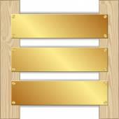 Three plaques — Stock Vector